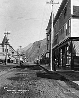 0111725 © Granger - Historical Picture ArchiveALASKA: SKAGWAY.   Looking north on Broadway at Skagway, Alaska. Photograph, early 20th century.