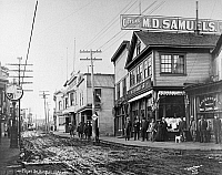 0176409 © Granger - Historical Picture ArchiveALASKA: NOME, c1908.   View of Front Street in Nome, Alaska. Photograph, c1908.