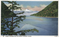 0324480 © Granger - Historical Picture ArchiveALASKA: INSIDE PASSAGE.   View of the Inside Passage in Alaska. Postcard, American, c1939.