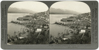 0326133 © Granger - Historical Picture ArchiveALASKA: KETCHIKAN, c1900.   Cannery tenders in the winter quarters at Ketchikan, Alaska. Stereograph, c1900.
