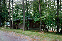 0176291 © Granger - Historical Picture ArchiveALABAMA: STATE PARK, c1976.   A cabin at Lake Guntersville State Park in Alabama. Photograph, c1976.