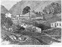 0081906 © Granger - Historical Picture ArchiveARKANSAS: HOT SPRINGS.   'Hot Springs, the popular health resort of the Southwest.' American line engraving, 1873.