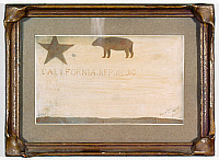 0176436 © Granger - Historical Picture ArchiveCALIFORNIA: BEAR FLAG.   One of the original Bear Flags of California, mid or late 19th century.