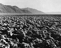 0259208 © Granger - Historical Picture ArchiveCALIFORNIA: DEATH VALLEY.   The Devil's Golf Course, a large expanse of salt on the floor of Death Valley, California. Photograph, mid or late 20th century.