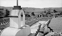 0264907 © Granger - Historical Picture ArchiveCALIFORNIA: MISSION, 1936.   Mission San Luis Rey de Francia, founded in 1798 in Oceanside, California. Photograph by Henry F. Withey, 1936.