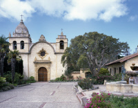 0264919 © Granger - Historical Picture ArchiveCALIFORNIA: MISSION.   Mission San Carlos Borromeo, founded in 1771, in Carmel, California. Photograph by Carol M. Highsmith, late 20th century.