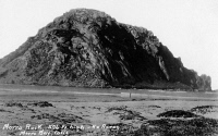 0323784 © Granger - Historical Picture ArchiveCALIFORNIA: MORRO BAY.   View of Morro Rock at Morro Bay, California. Photo postcard, early or mid 20th century.