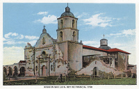 0324115 © Granger - Historical Picture ArchiveMISSION SAN LUIS, c1935.   The Spanish Franciscan Mission San Luis, Rey de Francia, built in 1798 in California. Photo postcard, American, c1935.