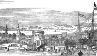 0002470 © Granger - Historical Picture ArchiveFLORIDA: SAINT AUGUSTINE.   View of the town of Saint Augustine. Line engraving, 17th century.