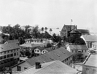0131101 © Granger - Historical Picture ArchiveFLORIDA: KEY WEST, c1900.   View of Key West, Florida, from a hotel. Photograph, c1900.