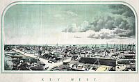 0132103 © Granger - Historical Picture ArchiveFLORIDA: KEY WEST.   View of Key West, Florida. Lithograph, late 19th century.