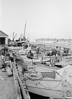 0132104 © Granger - Historical Picture ArchiveKEY WEST: FISHERMEN, 1938.   Fishing wharf in Key West, Florida. Photograph by Arthur Rothstein, 1938.