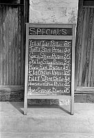 0132123 © Granger - Historical Picture ArchiveRESTAURANT MENU, 1938.   Menu sign for a restaurant in Key West, Florida. Photograph by Arthur Rothstein, 1938.
