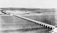 0132514 © Granger - Historical Picture ArchiveFLORIDA: OVERSEAS BRIDGE.   Overseas Highway linking Miami to Key West, Florida, built as a Public Works Administration project. Photograph, 1939.