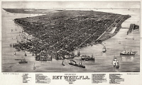 0527768 © Granger - Historical Picture ArchiveKEY WEST, 1884.   Aerial view of Key West, Florida. Lithograph after a drawing by Henry Wellge, 1884.