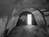 0268270 © Granger - Historical Picture ArchiveNAVY: AIR STATION SHELTER.   The interior of an air raid shelter at Naval Air Station Barbers Point in Kapolei, Oahu, Hawaii. Photograph, mid or late 20th century.