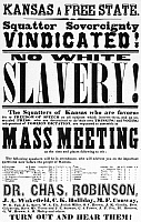 0037140 © Granger - Historical Picture ArchiveBROADSIDE: BLEEDING KANSAS.   Broadside for a mass meeting to determine Kansas a free state, 1854.
