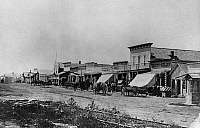 0186518 © Granger - Historical Picture ArchiveKANSAS: DODGE CITY, 1878.   Front Street in Dodge City, Kansas. Photograph, 1878.