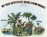 0040572 © Granger - Historical Picture ArchiveMY OLD KENTUCKY HOME, c1860. Detail of a song sheet cover of Stephen Foster's 'My Old Kentucky Home'. Engraving, c1860.
