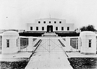 0111433 © Granger - Historical Picture ArchiveKENTUCKY: FORT KNOX.   Gated entrance to Fort Knox, the United States Bullion Depository in Kentucky. Photograph, 1939.