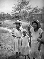 0120447 © Granger - Historical Picture ArchiveLOUISIANA: ALMA PLANTATION.   African American girls and women at the Alma Plantation, False River, Louisiana. Photograph by Alan Lomax, 1934.