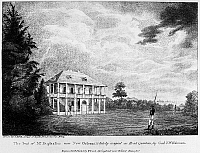 0128947 © Granger - Historical Picture ArchiveLOUISIANA: PLANTER'S HOME.   The Duplantier residence near New Orleans, Louisiana. Wood engraving from 'Country Seats of the United States of North America,' 1808.