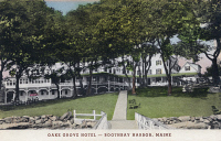 0323906 © Granger - Historical Picture ArchiveMAINE: OAKE GROVE HOTEL.   View of the Oake Grove Hotel at Boothbay Harbor, Maine. Postcard, late 19th or early 20th century.