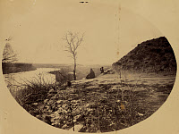 0267859 © Granger - Historical Picture ArchivePOTOMAC RIVER, c1863.   A view of the Potomac River from Fort Sumner in Bethesda, Maryland. Photographed by Andrew Joseph Russell, c1863.