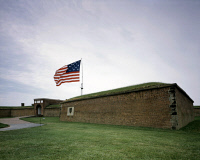 0382885 © Granger - Historical Picture ArchiveMARYLAND: FORT McHENRY.   Fort McHenry in Baltimore, Maryland, where Francis Scott Key was inspired to write 'The Star-Spangled Banner' during the War of 1812. Photograph by Carol M. Highsmith, c1990.