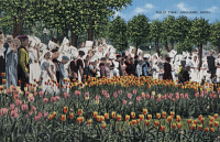 0324436 © Granger - Historical Picture ArchiveMICHIGAN: TULIP FESTIVAL.   The Tulip Time festival in Holland, Michigan. Photo postcard, 1939.