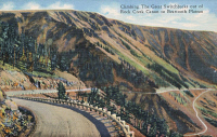 0324069 © Granger - Historical Picture ArchiveMONTANA: BEARTOOTH HIGHWAY.   Beartooth Highway between Rock Creek Canyon and Beartooth Plateau in Montana. Postcard, 1937.