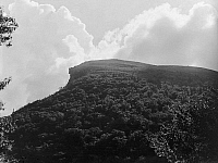 0118172 © Granger - Historical Picture ArchiveWHITE MOUNTAINS: OLD MAN.   The 'Old Man of the Mountain' rock formation in the Franconia Notch pass in the White Mountains in New Hampshire. Photograph, c1900.