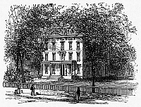 0099376 © Granger - Historical Picture ArchiveNEWARK: MANSION, 1876.   The Frelinghuysen Mansion, Newark, New Jersey. Wood engraving, 1876.