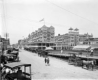 0119079 © Granger - Historical Picture ArchiveATLANTIC CITY, c1901.   A view of the Islesworth Hotel and Virginia Avenue in Atlantic City, New Jersey. Photograph, c 1901.