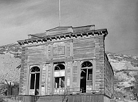 0184275 © Granger - Historical Picture ArchiveNEVADA: MINERS' HALL.   Old miners' union hall, Silver City, Nevada. Photographed by Arthur Rothstein, March 1940.
