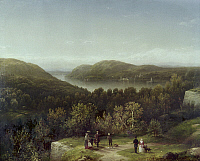 0102898 © Granger - Historical Picture ArchiveNEW YORK: WEST POINT, 1855.   'Hudson River Valley from Fort Putnam, West Point, New York.' Oil on canvas by George Henry Bougton, 1855.
