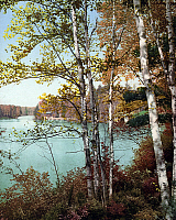0266632 © Granger - Historical Picture ArchiveADIRONDACKS, c1903.   The inlet on Spitfire Lake in the Adirondack Mountains, New York. Photochrome, c1903.