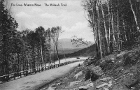 0323788 © Granger - Historical Picture ArchiveNEW YORK: MOHAWK TRAIL.   The Loop, part of the western slope of the Mohawk Trail highway in upstate New York. Photo postcard, early 20th century.