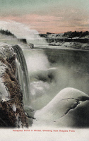 0323805 © Granger - Historical Picture ArchiveNEW YORK: NIAGARA FALLS.   View of the Prospect Point in the winter, at Niagara Falls, New York. Canadian photo postcard, early 20th century.