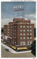 0324490 © Granger - Historical Picture ArchiveNEW YORK: HOTEL, c1938.   The Roger Smith Hotel in White Plains, New York. Postcard, American, c1938.