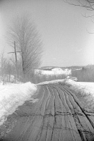 0326733 © Granger - Historical Picture ArchiveVERMONT: WOODSTOCK, c1940.   A spring thaw in the farmland of Woodstock, Vermont. Photograph by Marion Post Wolcott, c1940.