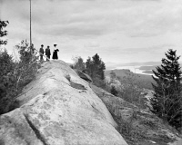 0621817 © Granger - Historical Picture ArchiveADIRONDACKS: BALD MOUNTAIN.   View of the Fulton Chain of Lakes from Bald Mountain in the Adirondacks, New York. Photograph, c1903.