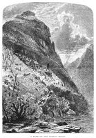 0015189 © Granger - Historical Picture ArchiveNORTH CAROLINA: MOUNTAINS.   A farm on the French Broad River, North Carolina. Wood engraving, c1875.