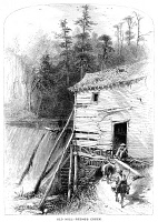 0015190 © Granger - Historical Picture ArchiveNORTH CAROLINA: OLD MILL.   Old Mill on Reem's Creek near the French Broad River. Wood engraving, c1875.