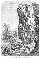0082623 © Granger - Historical Picture ArchiveNORTH CAROLINA, c1875.   The Lovers' Leap, along the French Broad River, North Carolina. Wood engraving, c1875.