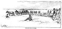 0082619 © Granger - Historical Picture ArchiveOKLAHOMA LAND RUSH, 1889.   Establishing the first bank at Guthrie, Oklahoma Territory, on the first day of the Oklahoma land rush, 22 April 1889. Drawing from a contemporary American newspaper.