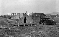 0123498 © Granger - Historical Picture ArchiveOREGON: FARM, 1939.   A tenant farmer building a house around a tent, near Klamath County, Oregon. Photograph by Dorothea Lange, August 1939.