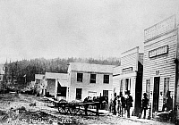 0176592 © Granger - Historical Picture ArchiveOREGON: PORTLAND, 1852.   View of Front Street in Portland, Oregon. Photograph, 1852.