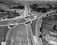 0259207 © Granger - Historical Picture ArchiveOREGON: HIGHWAY.   Highway interchange at Hayesville, north of Salem, Oregon. Photograph, 1960s or 1970s.