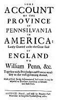 0082595 © Granger - Historical Picture ArchivePENNSYLVANIA: TITLE PAGE.   Title page of 'Some Account of the Province of Pennsilvania in America...,' London, 1681.